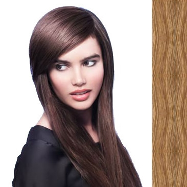 Side Swept Clip In Hair Fringe color #18 dark ash blonde