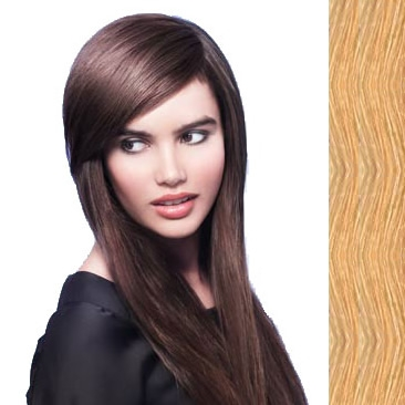 Side Swept Clip In Hair Fringe color #22 light honey blonde