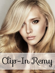 Clip in REMY Hair Extensions - straight - Online Store