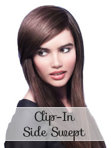 Hair Bangs & Fringe clip in side swept - Online Store