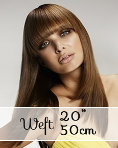 "Weft hair extensions 20"" (50cm) - straight - Online Store"