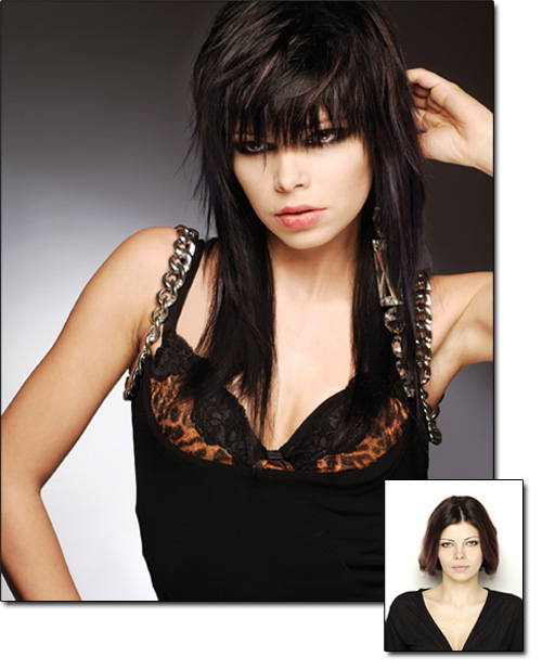 Hair Extensions before and after photos - Black