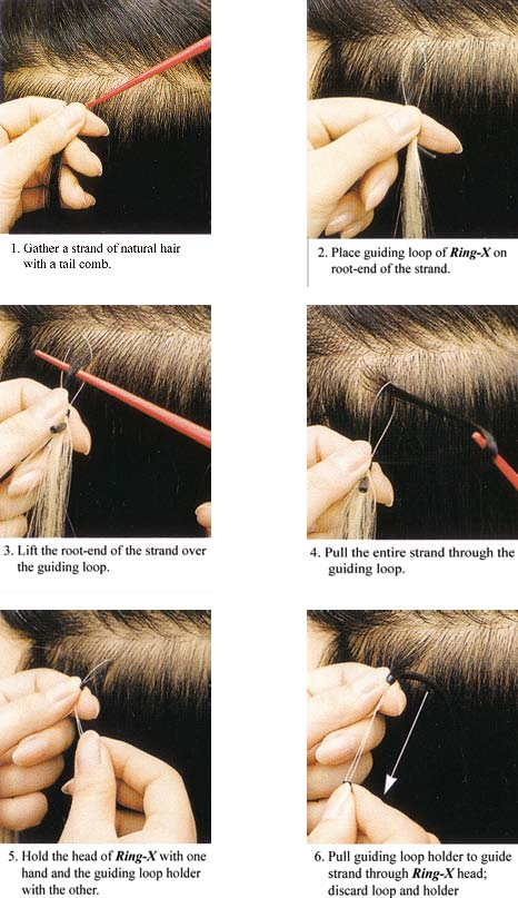 How to apply micro ring hair extension
