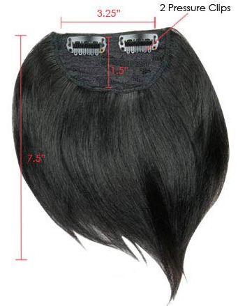 Side Swept Clip In Hair Fringe