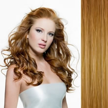 "Clip in Remy hair extensions 20"" (50cm) - straight color 27 honey blonde"