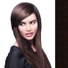 Side Swept Clip In Hair Fringe color #1 black