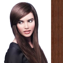 Side Swept Clip In Hair Fringe color #2 dark brown