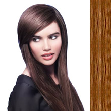 Side Swept Clip In Hair Fringe color #6 medium chestnut