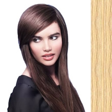 Side Swept Clip In Hair Fringe color #613 light pale blonde
