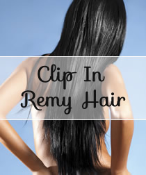 Clip in REMY Hair Extension Black